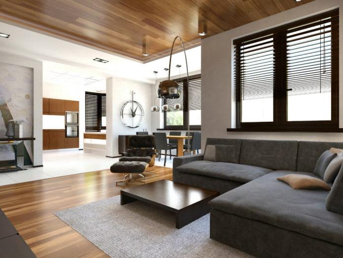 papier peint de plafond pour le bois à l'intérieur
