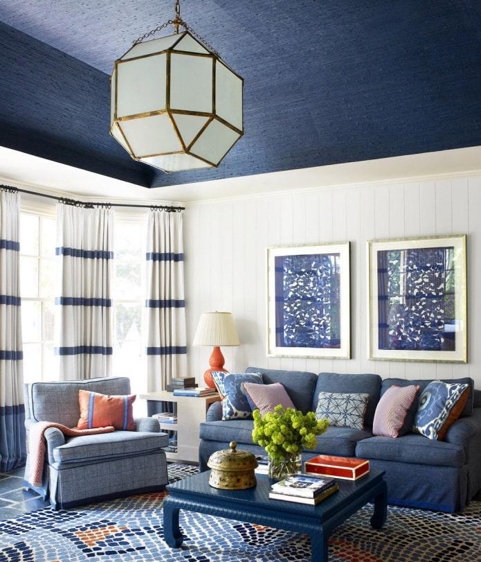 tapis de papier peint au plafond