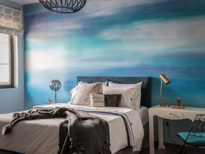 photos murales dans les tons bleus