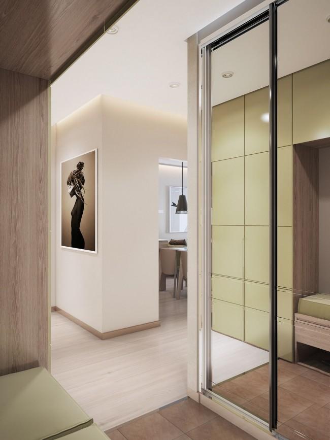 L'armoire coulissante est parfaite pour un petit couloir