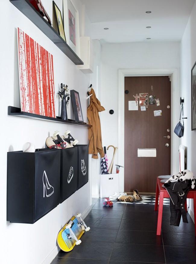 Couloir dans un style moderne - minimalisme et commodité réunis