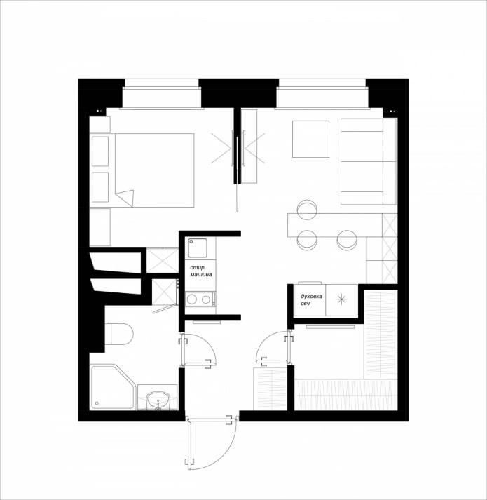 Appartement d'une pièce