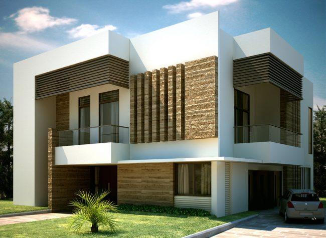 Projet de maison privée dans un style moderne