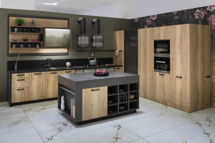 carrelage rectangulaire à l'intérieur de la cuisine