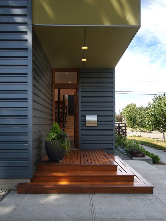 Utiliser les mêmes matériaux dans la construction de la maison et du porche