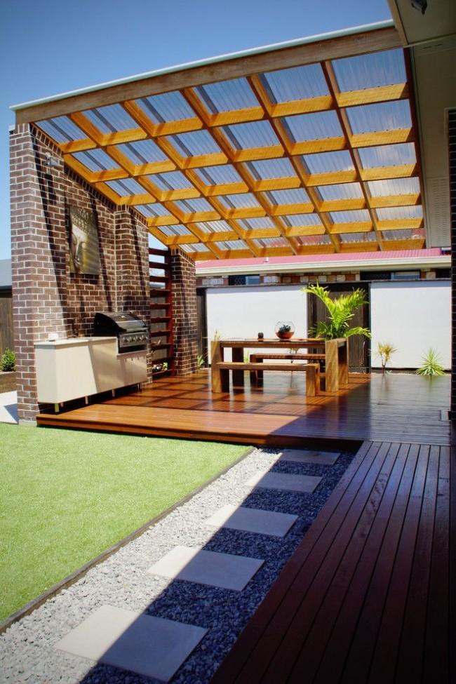 Une terrasse en polycarbonate doit correspondre au style architectural général
