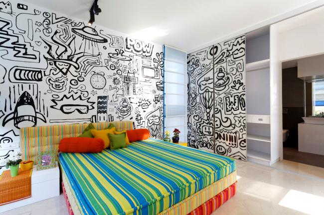 Intérieur harmonieusement décoré d'une chambre d'enfant