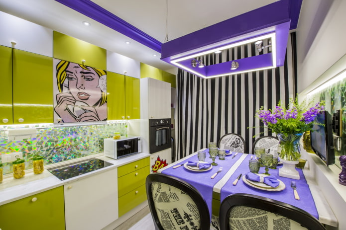 combinaison de jaune et de violet