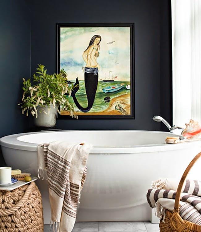 Photo 16 - Diluer la salle de bain en noir et blanc avec une peinture colorée