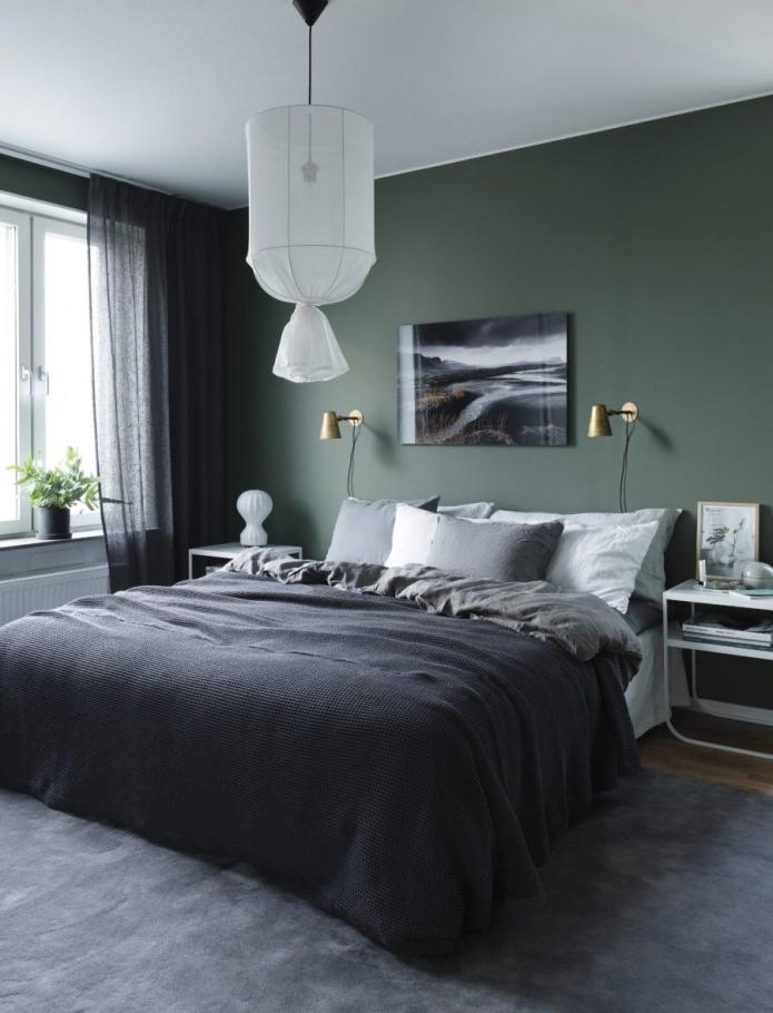 murs verts dans l'appartement