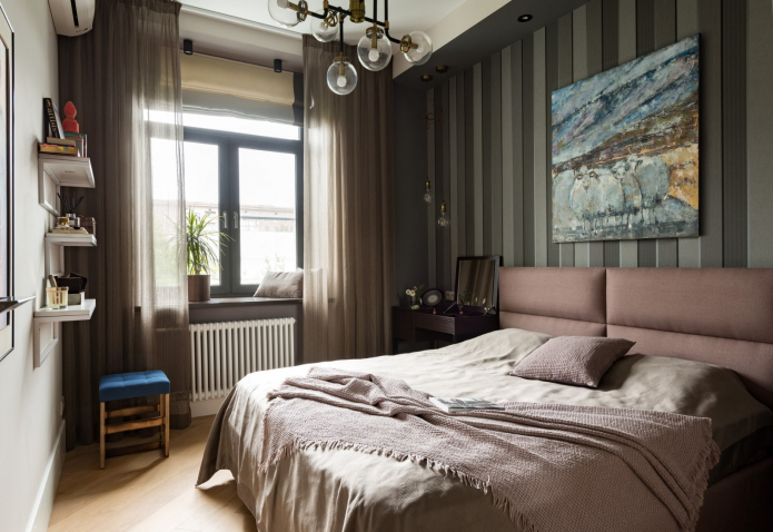 chambre dans un style moderne