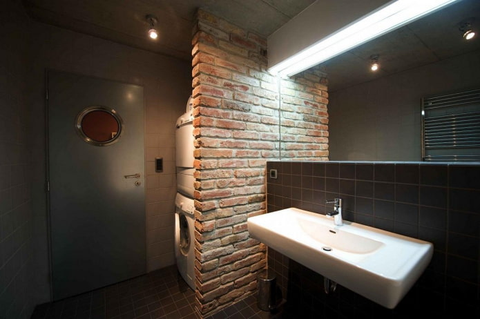 salle de bain avec buanderie