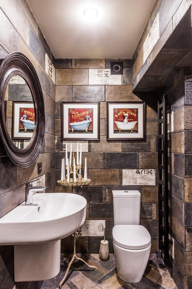 toilettes de style industriel