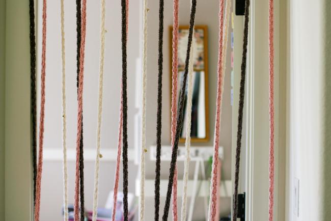 Rideaux en coton tricolore