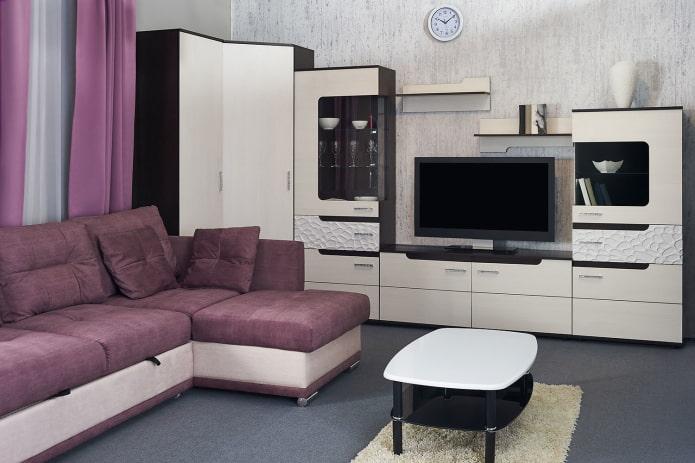 armoire d'angle modulable à l'intérieur du hall