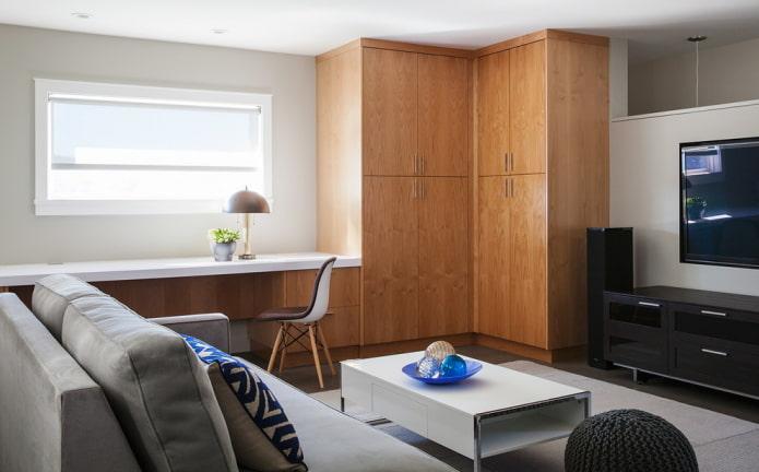 meuble d'angle en bois