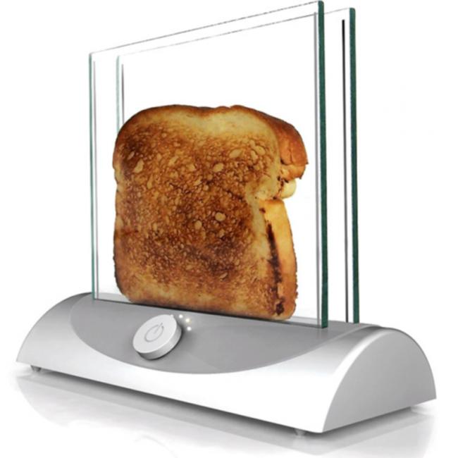 Grille-pain en verre élégant
