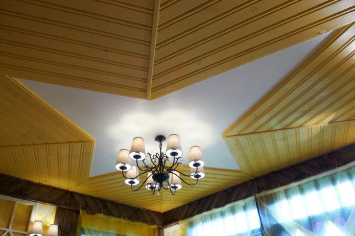 structure de plafond bouclée en doublure