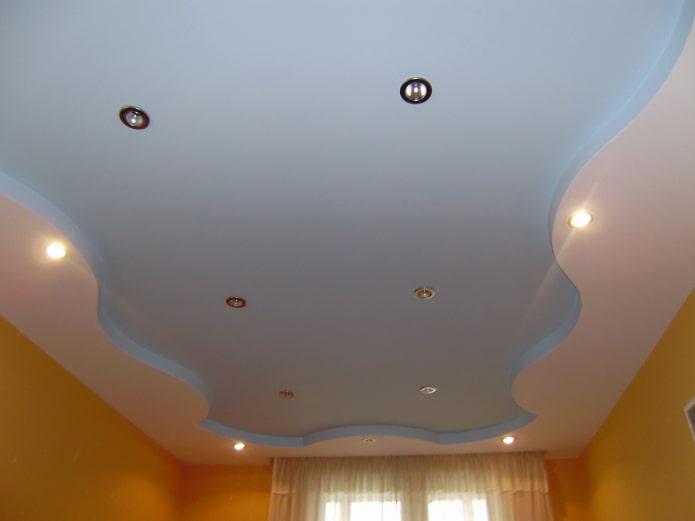 construction de plafond bouclé mat