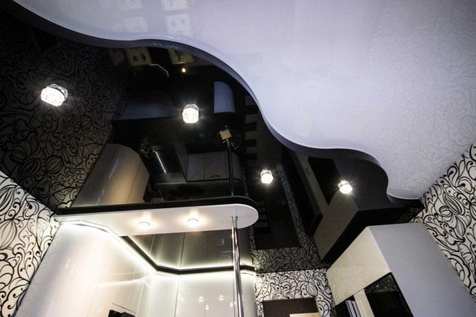 structure de plafond en forme de vague