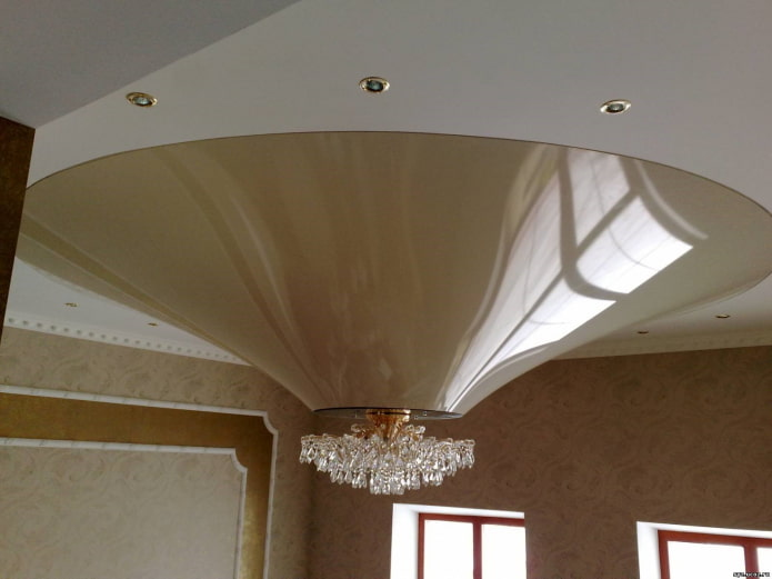 structure de plafond bouclée en forme de cône