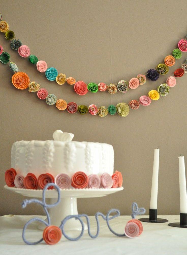 Guirlande de mariage de roses volumétriques
