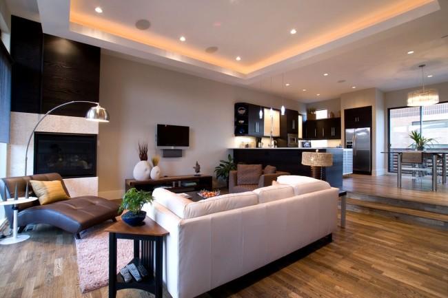 Dans le design moderne, les plafonds en plaques de plâtre sont de plus en plus utilisés, car ils sont écologiques, pratiques et fonctionnels