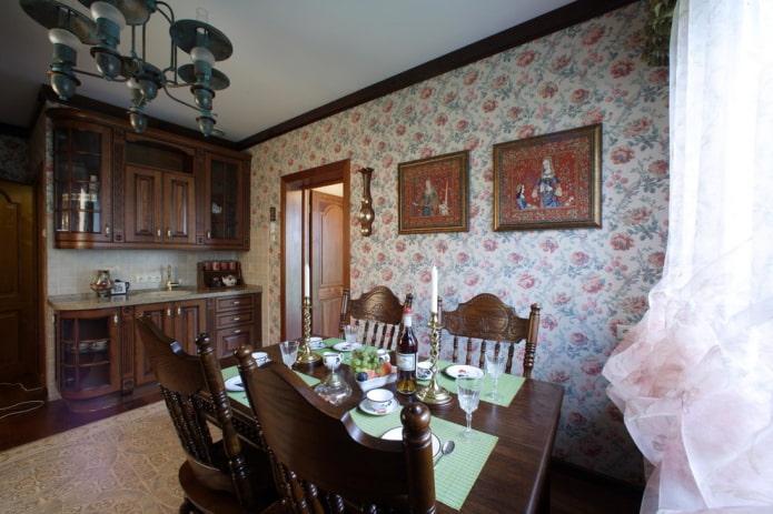 cuisine-salle à manger de style anglais