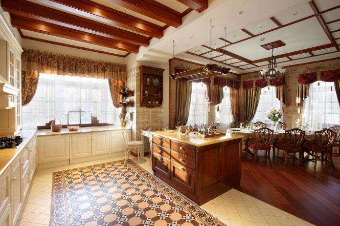 finition de l'espace cuisine dans le style anglais