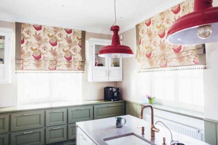 Textiles de cuisine de style britannique