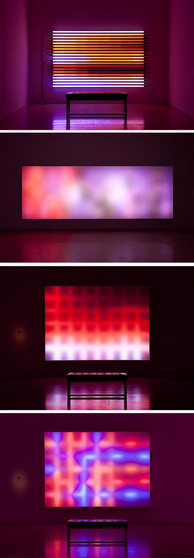 Panneau abstrait avec rétroéclairage LED
