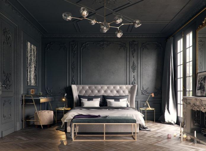finition de la chambre en noir