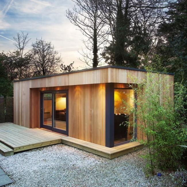 Une maison en bois constituée de poutres profilées est le plus souvent constituée de 2 et 2 étages