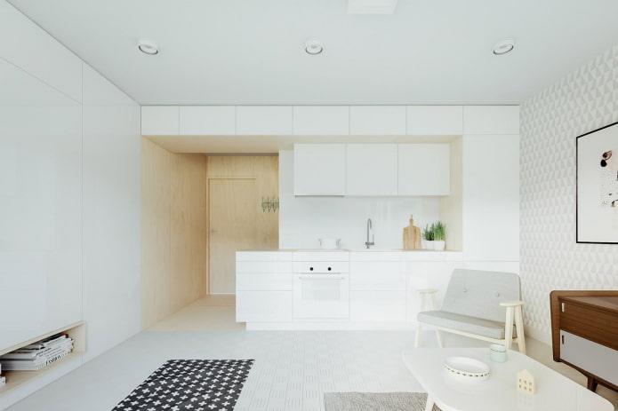 aménagement d'un coin cuisine dans un studio