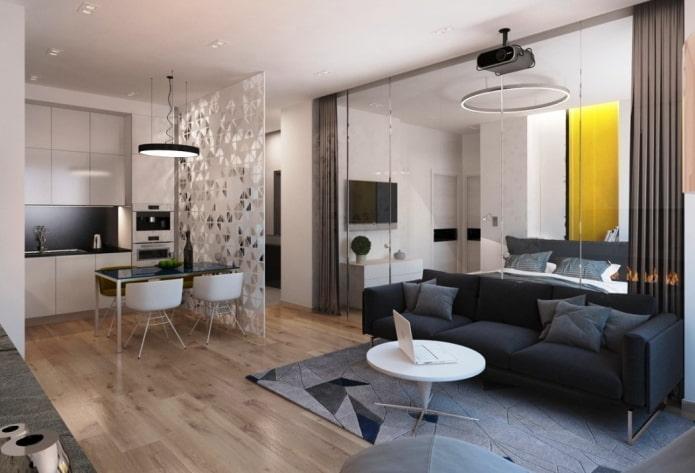 zonage d'appartement 40 carrés