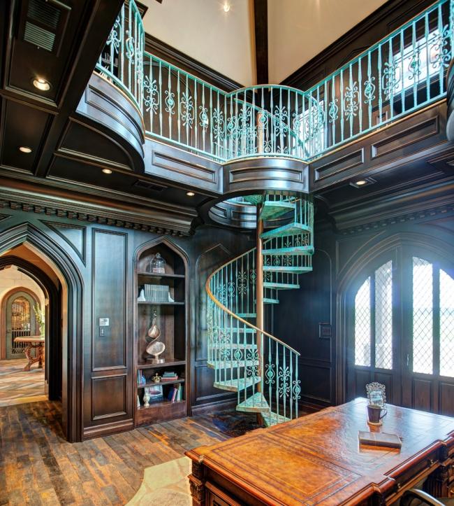 Patine dans la conception d'un escalier en colimaçon