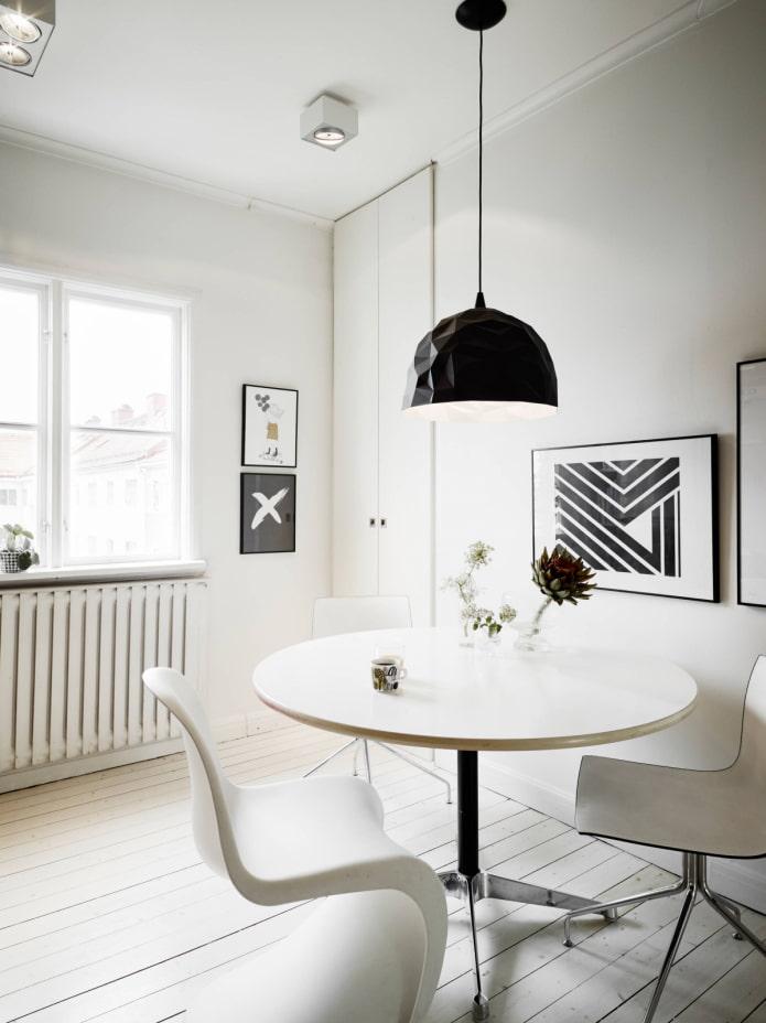 table à manger blanche