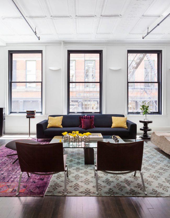La solution optimale pour un appartement d'une superficie de 40 m².  les compteurs sont des espaces ouverts et des espaces combinés