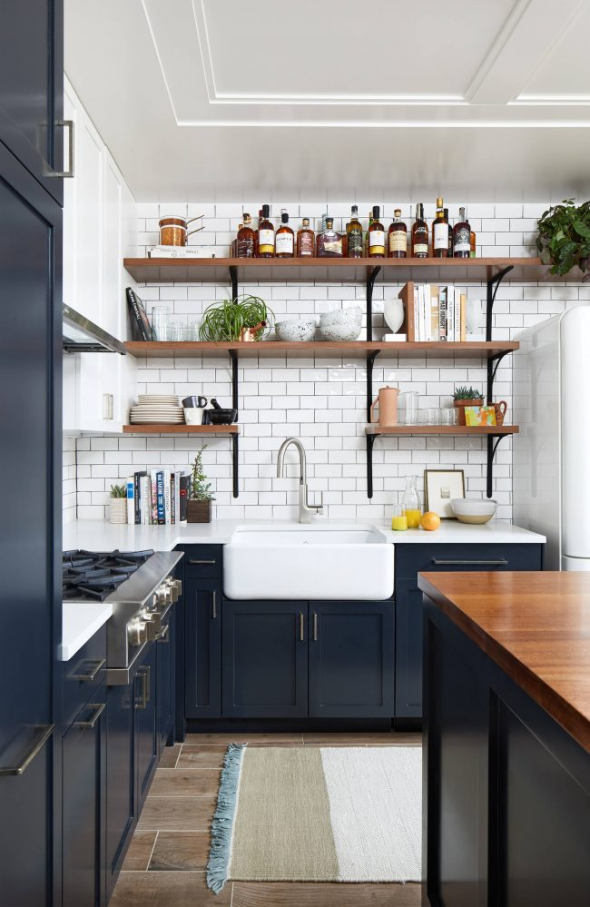 Les façades de cuisine sont parfaites comme accent de couleur