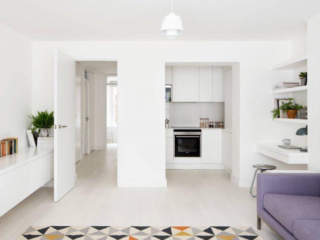 Blanc - restera toujours un classique pour les petits appartements et studios