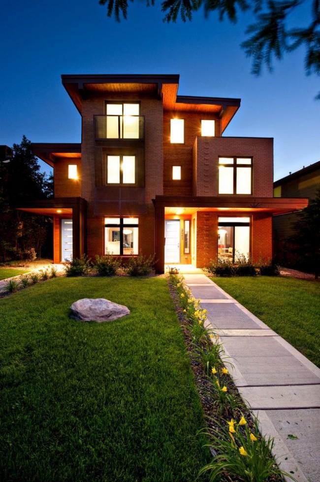 La brique n'est pas seulement un matériau de construction optimal, mais aussi une excellente option pour décorer les façades des bâtiments