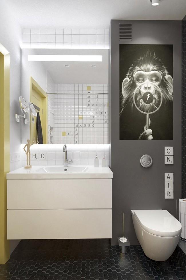Une solution de design moderne et fraîche pour une salle de bain combinée