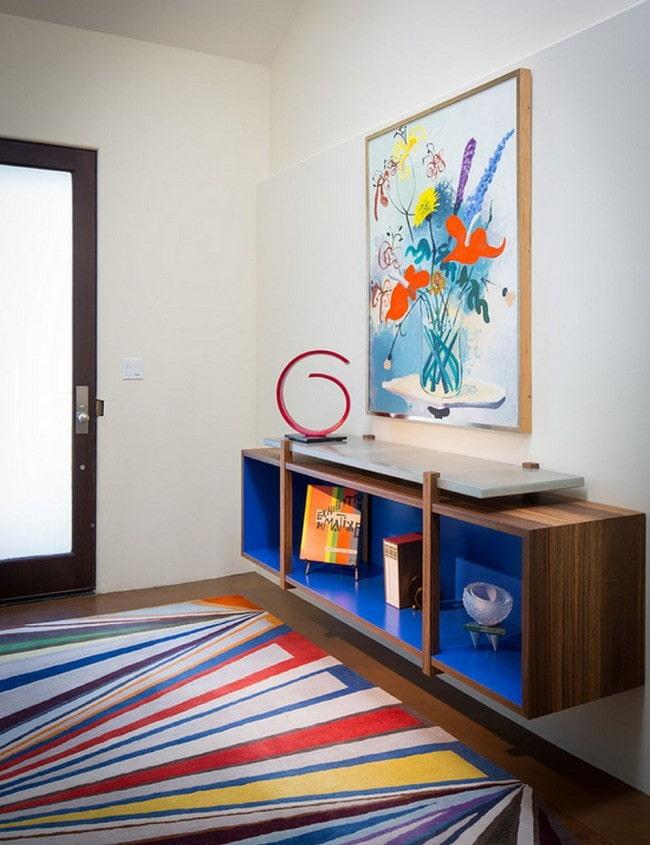 peintures en feng shui à l'intérieur du couloir
