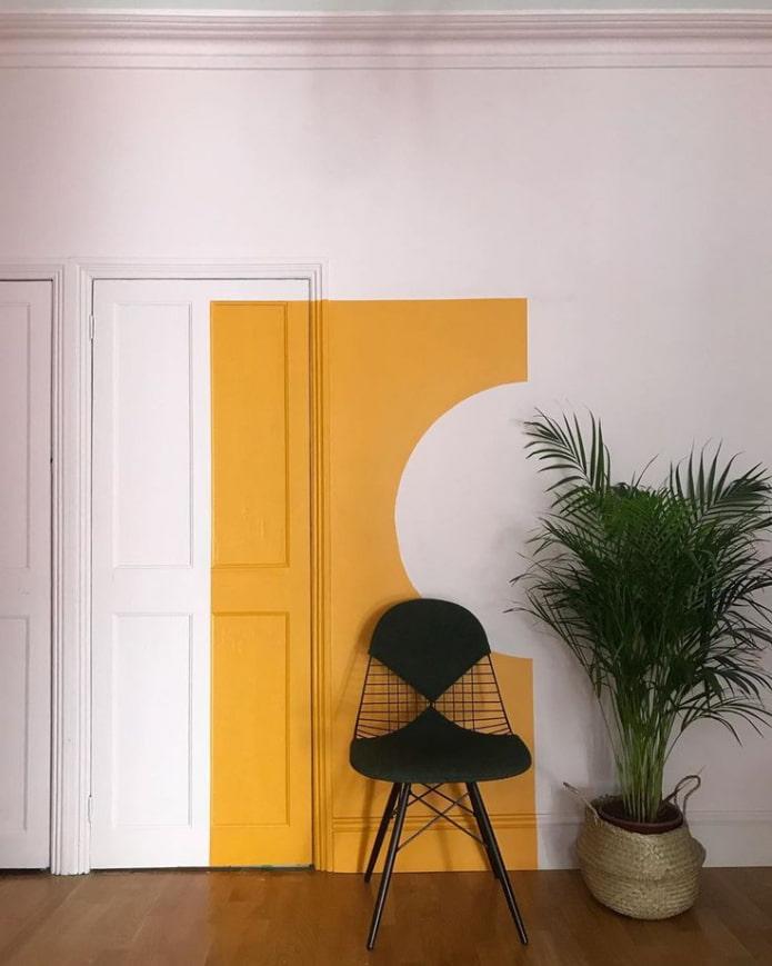 accent lumineux sur le mur