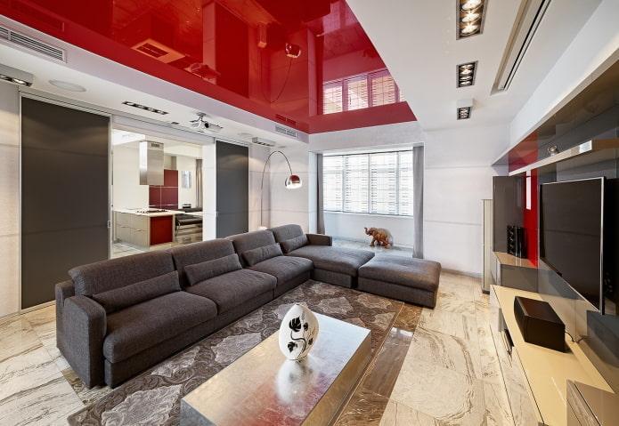 Plafond rouge