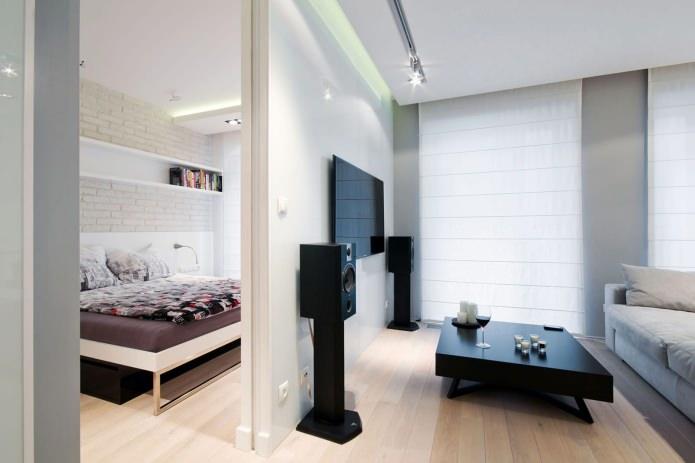 conception d'appartement dans des couleurs claires