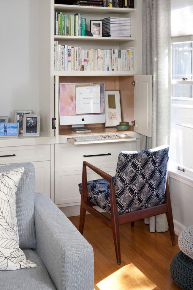 Gain de place avec des meubles intégrés