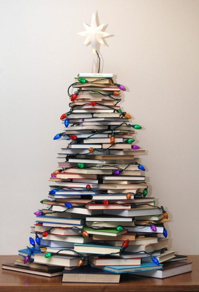 Arbre de Noël de livres