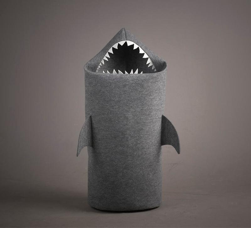 Panier à linge en laine de requin du designer polonais Jolanta Uczarczyk