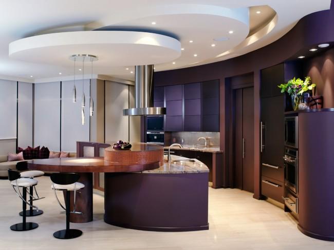 Les formes de structures arrondies réduisent assez souvent le coût de l'apparence générale de la pièce, mais des options élégantes sont possibles et les concepteurs vous en parleront